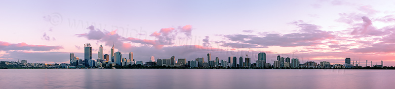 Perth and the Swan River at Sunrise, 1st September 2012