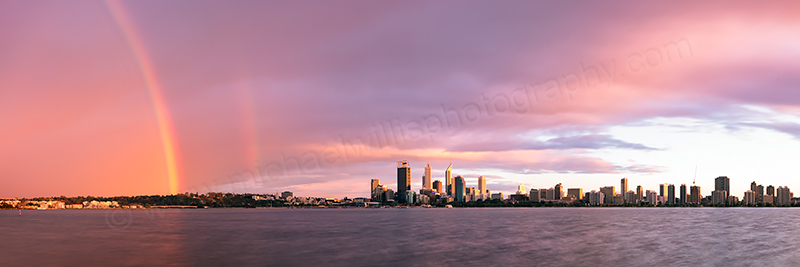 Perth and the Swan River at Sunrise, 3rd September 2012