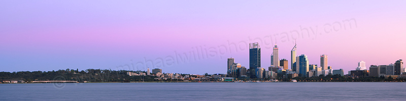 Perth and the Swan River at Sunrise, 8th September 2012