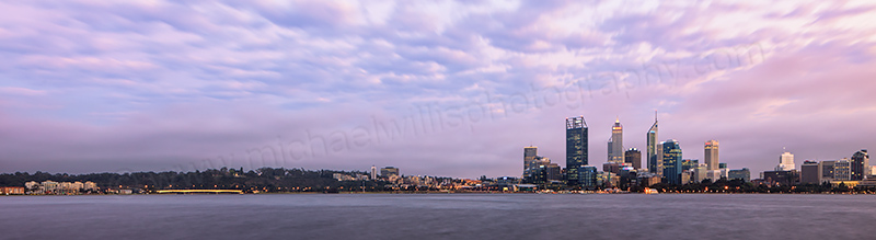 Perth and the Swan River at Sunrise, 10th September 2012