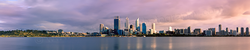 Perth and the Swan River at Sunrise, 11th September 2012