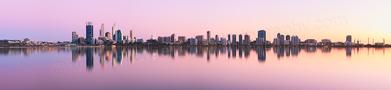 Perth and the Swan River at Sunrise, 13th September 2012