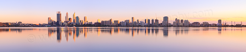Perth and the Swan River at Sunrise, 14th September 2012