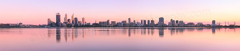 Perth and the Swan River at Sunrise, 15th September 2012