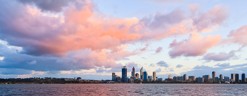 Perth and the Swan River at Sunrise, 27th September 2012