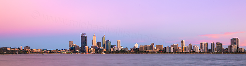 Perth and the Swan River at Sunrise, 4th December 2012