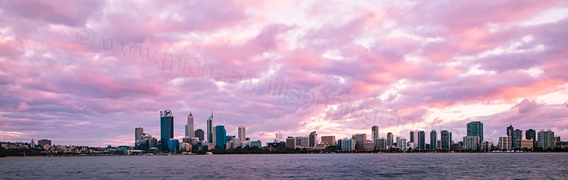 Perth and the Swan River at Sunrise, 7th December 2012