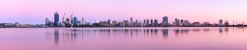 Perth and the Swan River at Sunrise, 8th December 2012