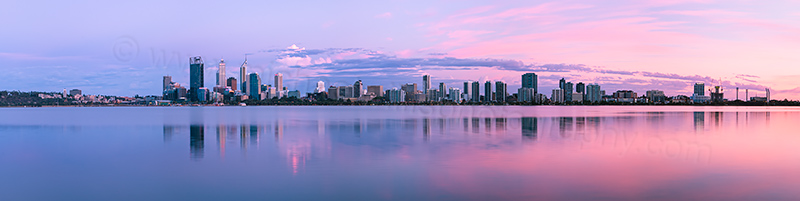 Perth and the Swan River at Sunrise, 11th December 2012