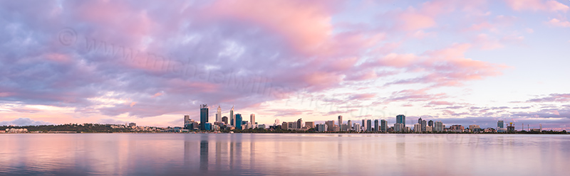 Perth and the Swan River at Sunrise, 12th December 2012