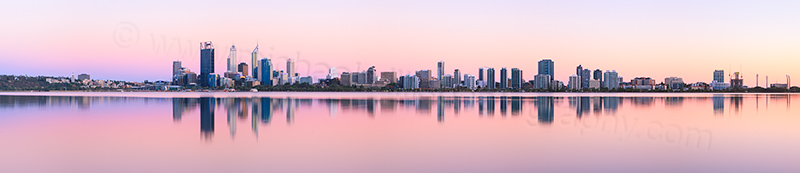 Perth and the Swan River at Sunrise, 16th December 2012