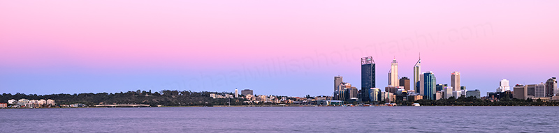 Perth and the Swan River at Sunrise, 20th December 2012