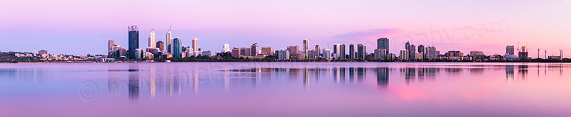 Perth and the Swan River at Sunrise, 21st December 2012