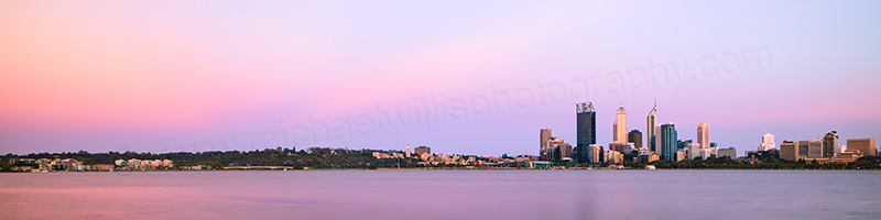 Perth and the Swan River at Sunrise, 27th December 2012