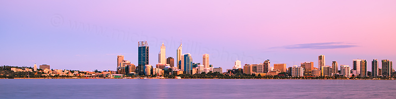 Perth and the Swan River at Sunrise, 30th December 2012