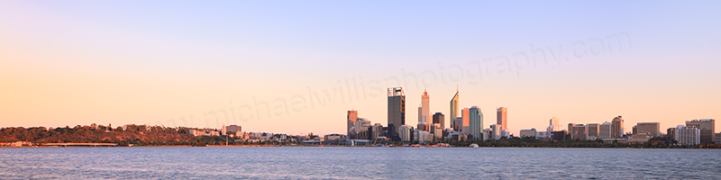 Perth and the Swan River at Sunrise, 1st March 2013