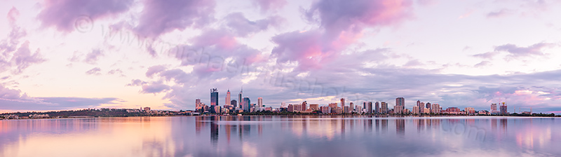 Perth and the Swan River at Sunrise, 11th March 2013