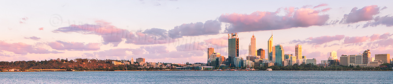 Perth and the Swan River at Sunrise, 16th March 2013