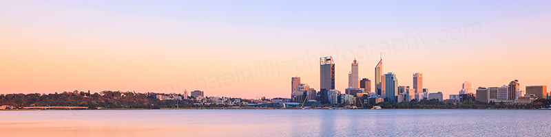 Perth and the Swan River at Sunrise, 24th March 2013