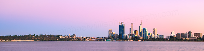 Perth and the Swan River at Sunrise, 29th March 2013