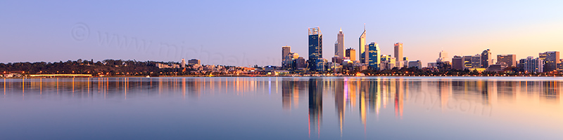 Perth and the Swan River at Sunrise, 1st June 2013