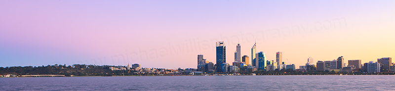Perth and the Swan River at Sunrise, 22nd June 2013
