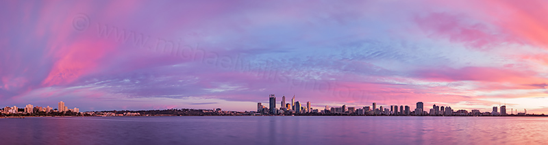 Perth and the Swan River at Sunrise, 22nd July 2013