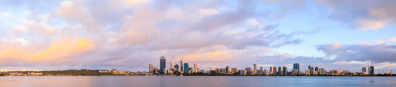 Perth and the Swan River at Sunrise, 27th December 2013