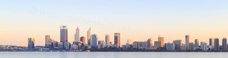 Perth and the Swan River at Sunrise, 4th April 2017