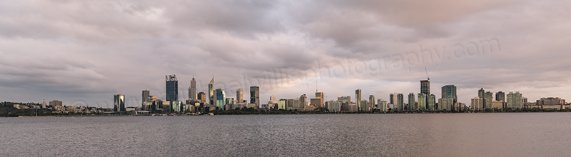 Perth and the Swan River at Sunrise, 7th April 2017