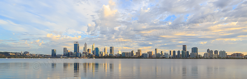 Perth and the Swan River at Sunrise, 15th April 2017