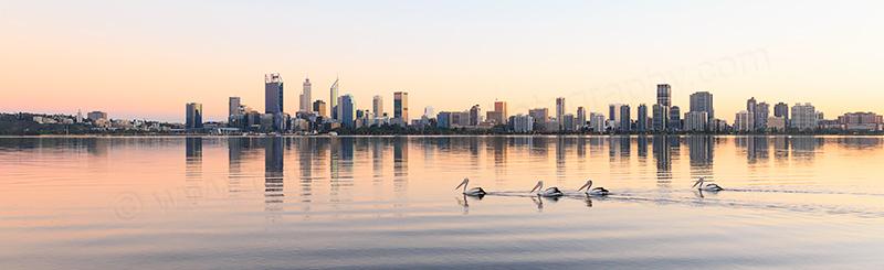Perth and the Swan River at Sunrise 26th April 2017.jpg