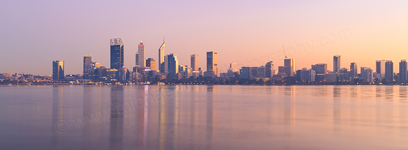 Perth and the Swan River at Sunrise, 29th April 2017