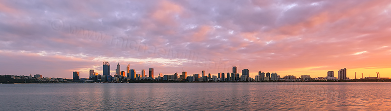 Perth and the Swan River at Sunrise, 1st May 2017