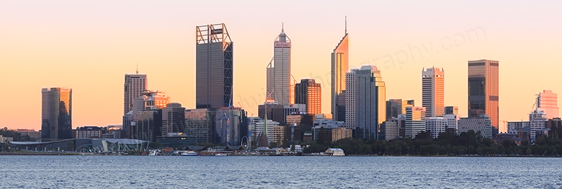 Perth and the Swan River at Sunrise, 2nd May 2017