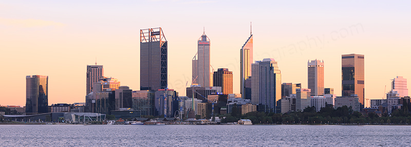 Perth and the Swan River at Sunrise, 3rd May 2017