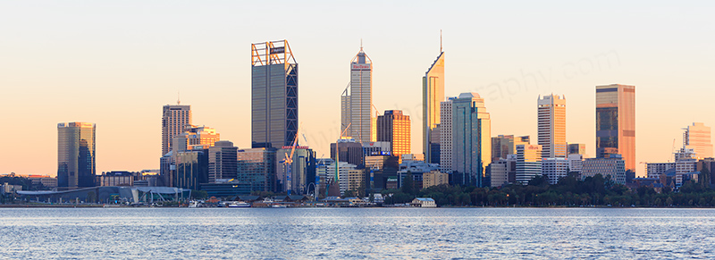 Perth and the Swan River at Sunrise, 7th May 2017