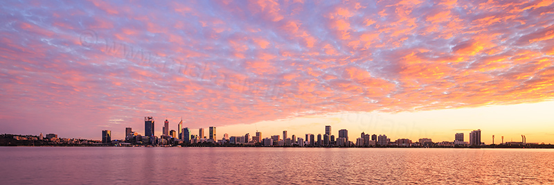 Perth and the Swan River at Sunrise, 8th May 2017