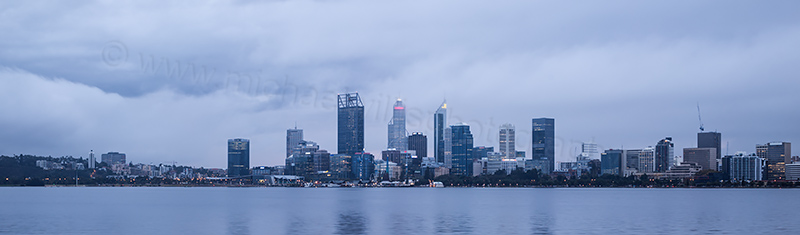 Perth and the Swan River at Sunrise, 19th May 2017