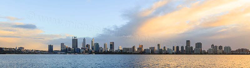 Perth and the Swan River at Sunrise, 20th May 2017