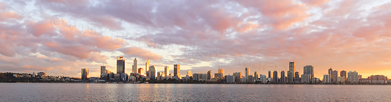 Perth and the Swan River at Sunrise, 24th May 2017