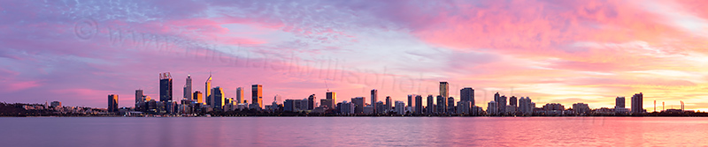 Perth and the Swan River at Sunrise, 10th June 2017