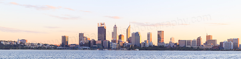 Perth and the Swan River at Sunrise, 13th June 2017