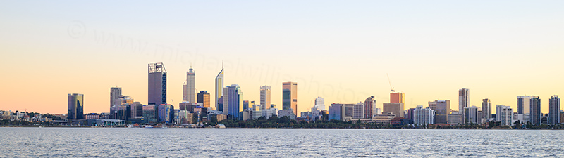 Perth and the Swan River at Sunrise, 18th June 2017