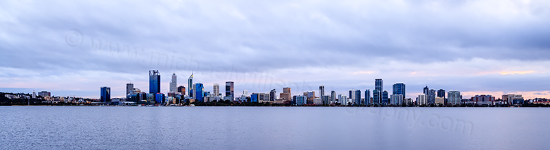 Perth and the Swan River at Sunrise, 23rd June 2017