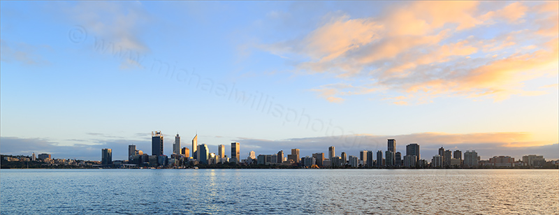 Perth and the Swan River at Sunrise, 6th July 2017