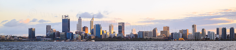 Perth and the Swan River at Sunrise, 12th July 2017