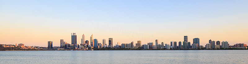 Perth and the Swan River at Sunrise, 1st November 2017