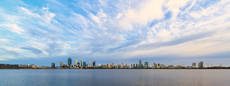 Perth and the Swan River at Sunrise, 3rd November 2017
