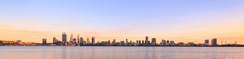 Perth and the Swan River at Sunrise, 4th November 2017